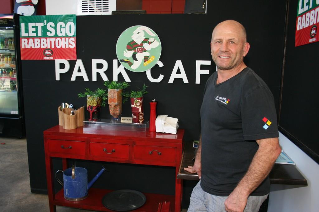 Harry Azar at the Park Café in Redfern (Photo: Claire Mahjoub)