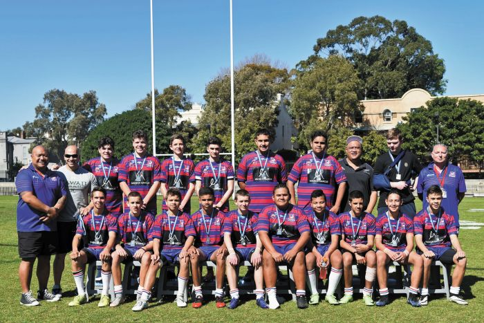 The Alexandria Rovers Under 15s – Premiers 2017 Photo: John Donnelly
