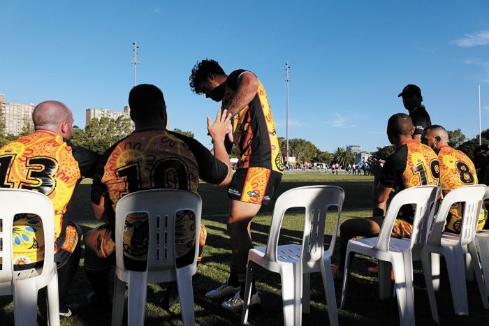 Play going well for the Goannas. Photo: Andrew Collis