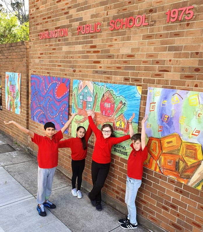Colour and creativity has been encouraged at Darlington Public School since schools went back after the Covid lockdown. Photo: Supplied